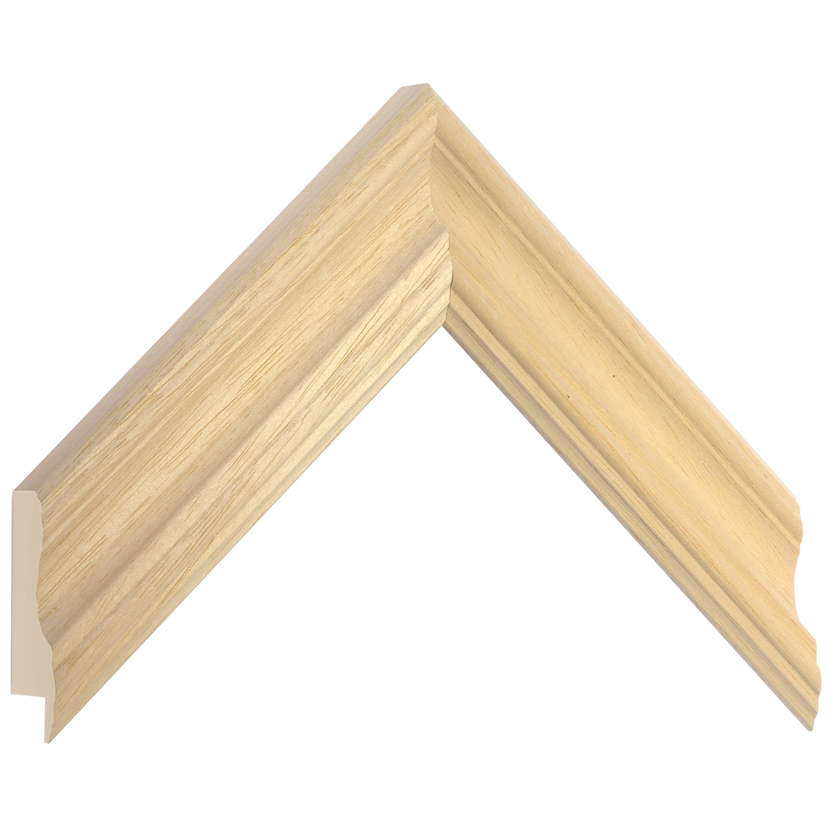 Moulding ayous, width 45mm, bare timber