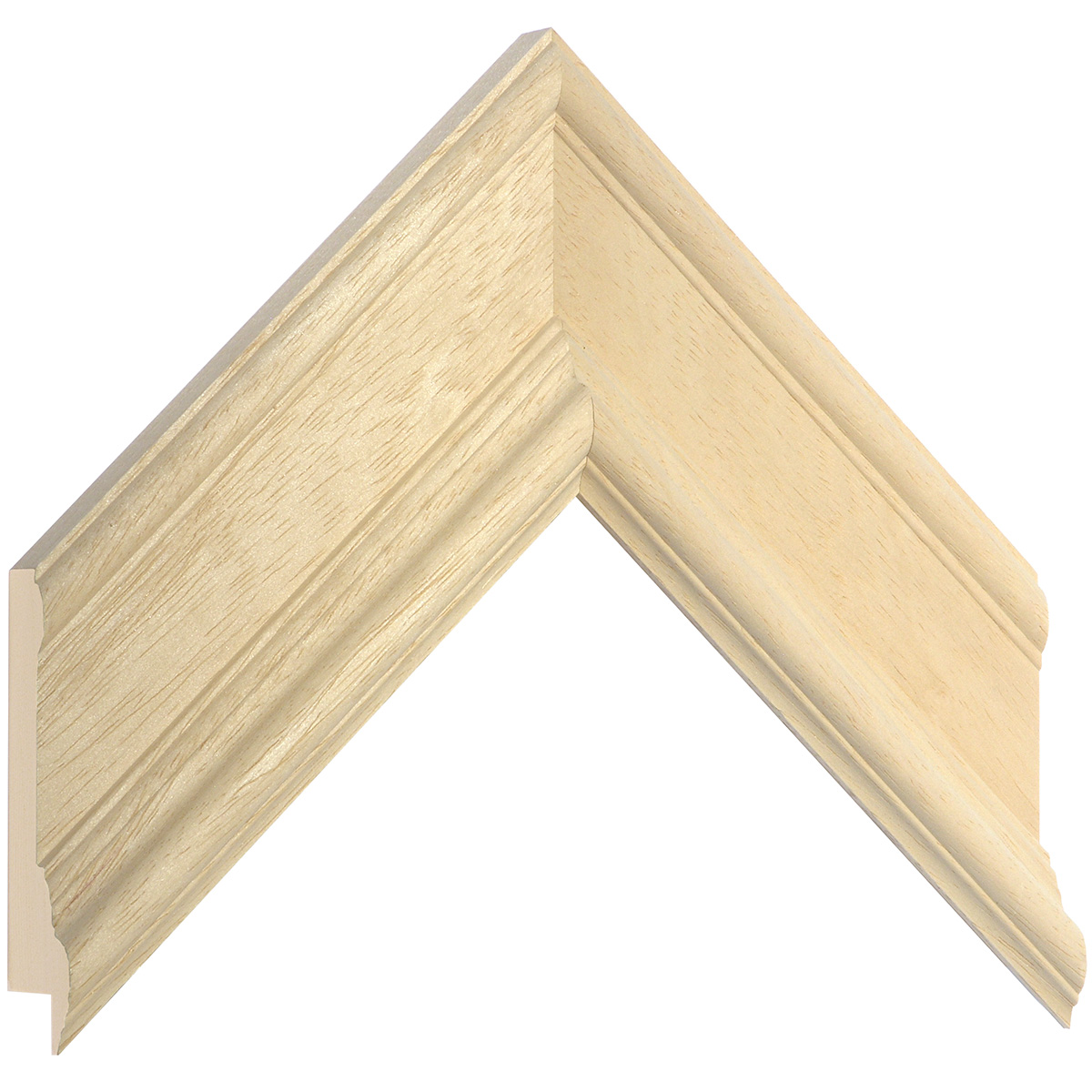 Moulding ayous, width 65mm, height 35mm, bare timber