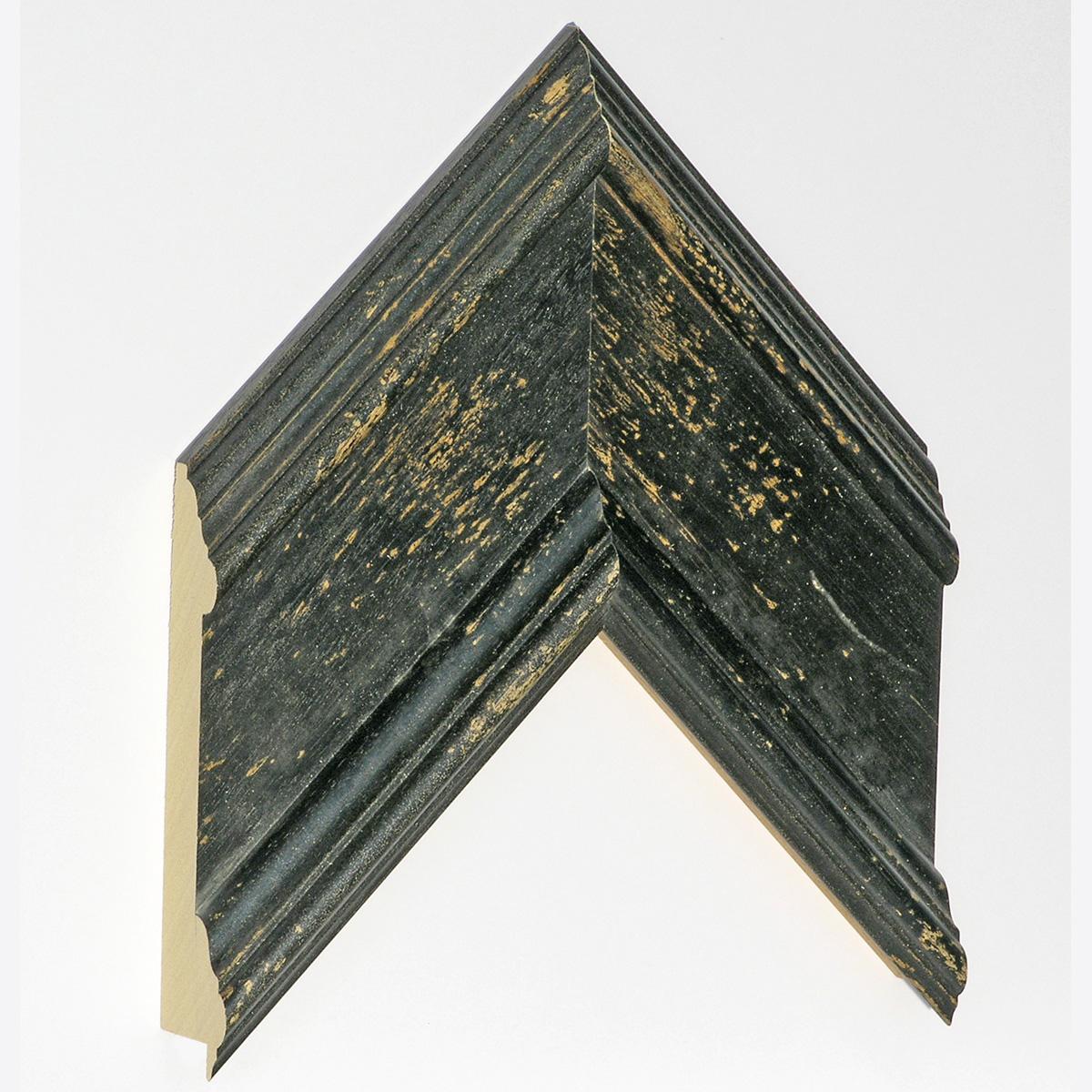 Moulding ayous - Width 105mm Height 34 - black