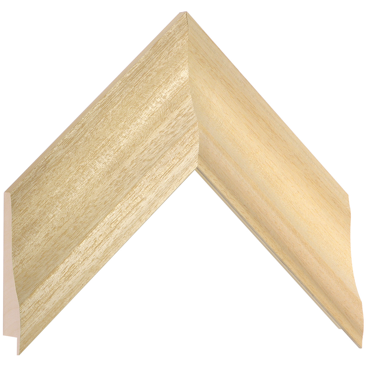 Moulding ayous, width 68mm, height 32mm, bare timber