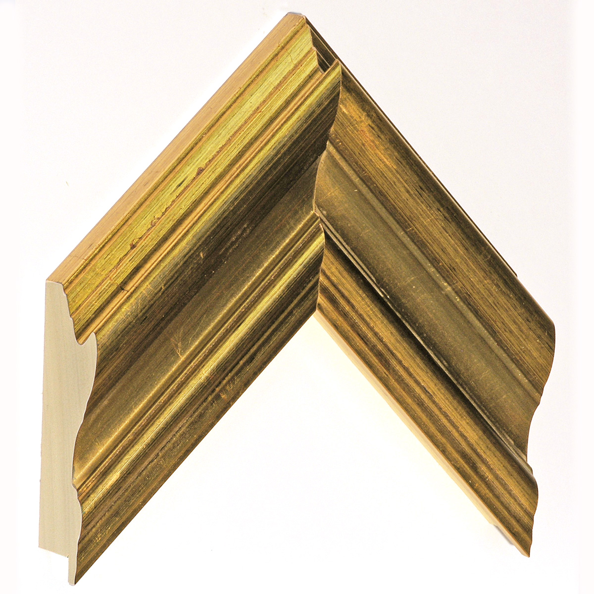 Moulding ayous, width 81mm, height 45, distressed gold