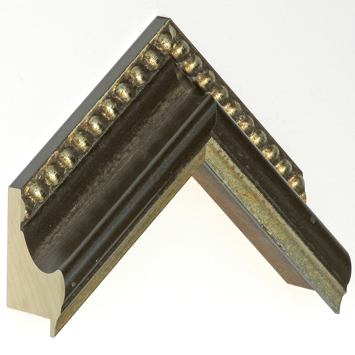 Moulding ayous, width 64mm, height 80, distressed black