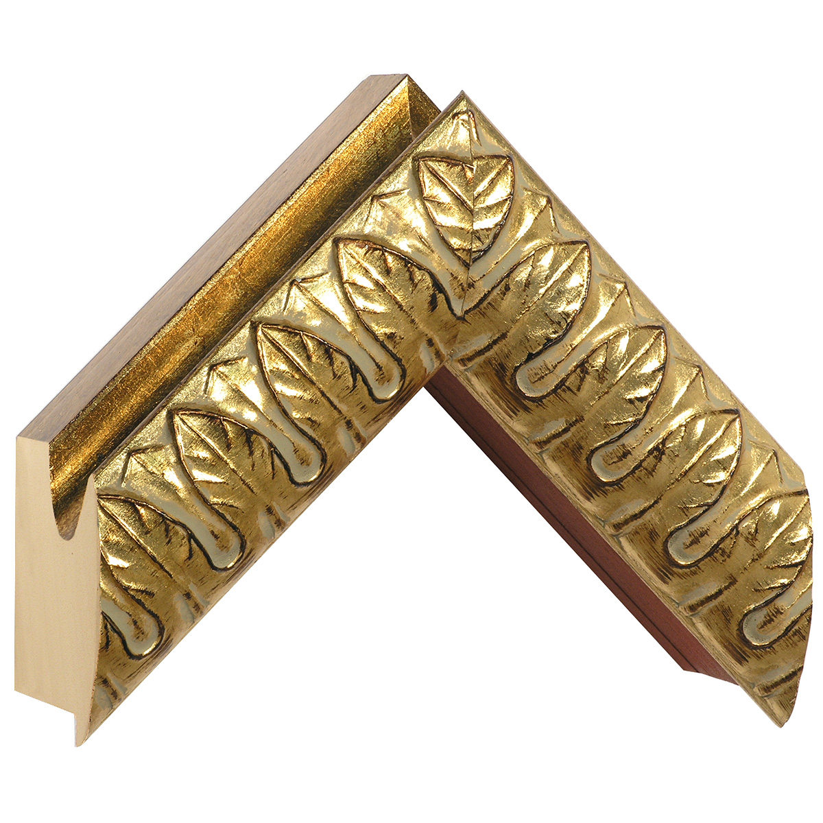 Moulding ayous, width 60mm, height 91, gold