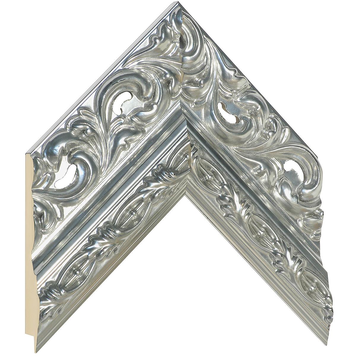 Moulding finger-joint pine Width 95mm - Silver