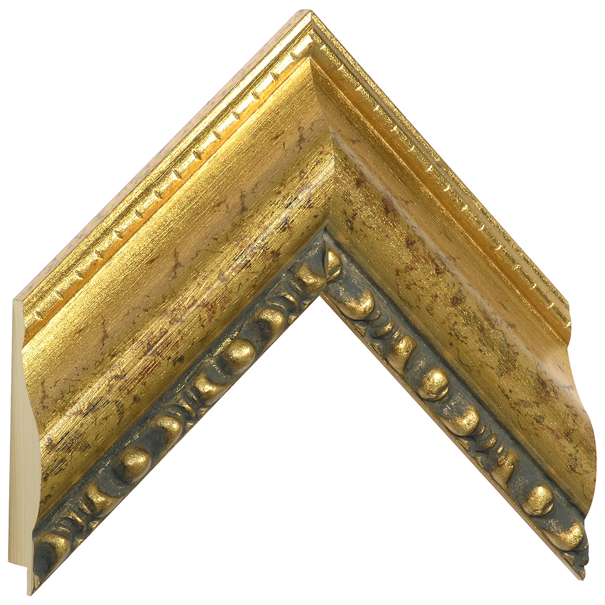 Moulding ayous, width 75mm, height 40, gold, beaded edge