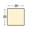 Stretcher bars, bare ayous, 20x20 mm
