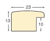 Moulding ayous, width 23mm height 13 - striped gold