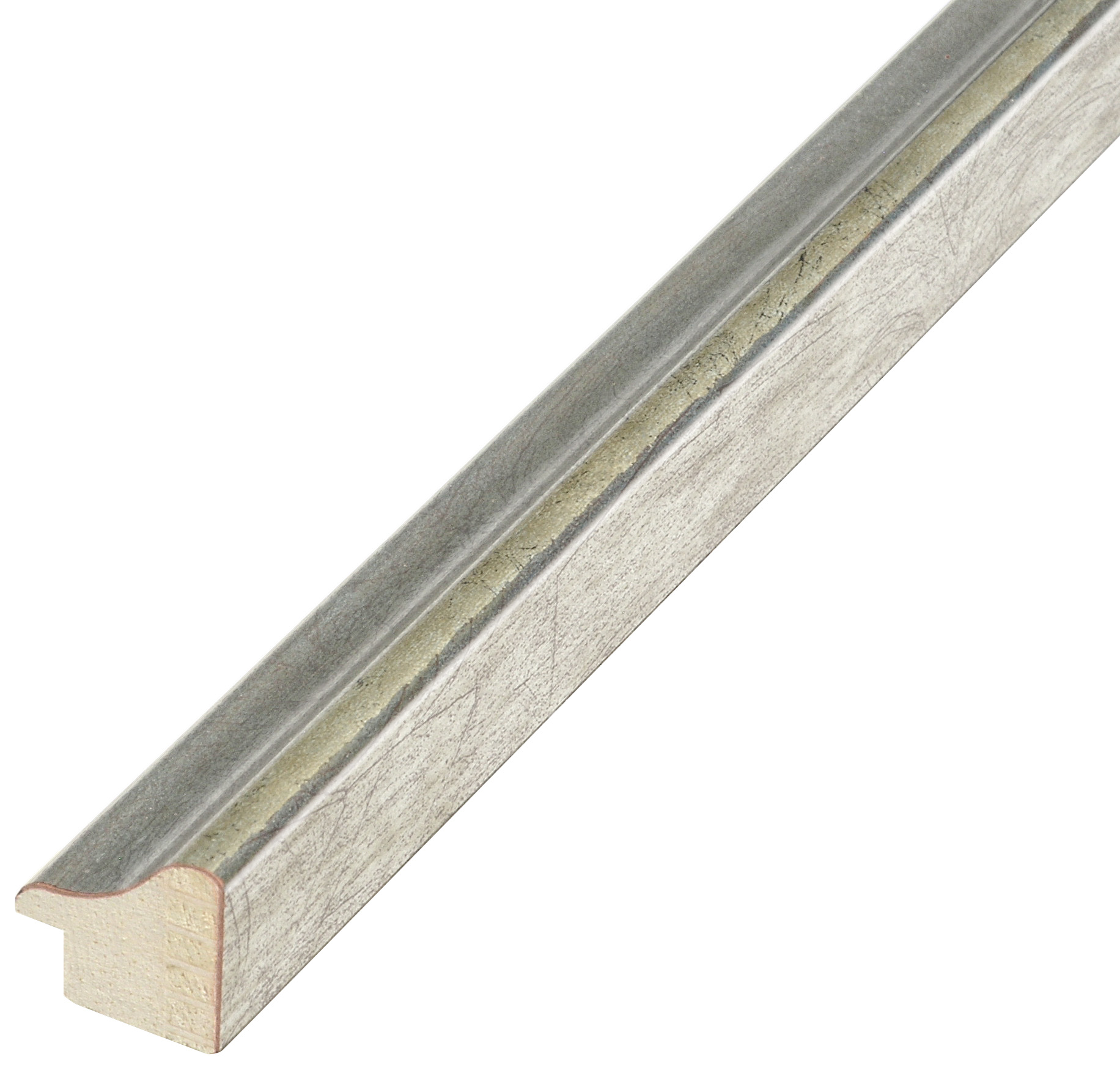 Moulding ayous, width 23mm height 22 - silver finish