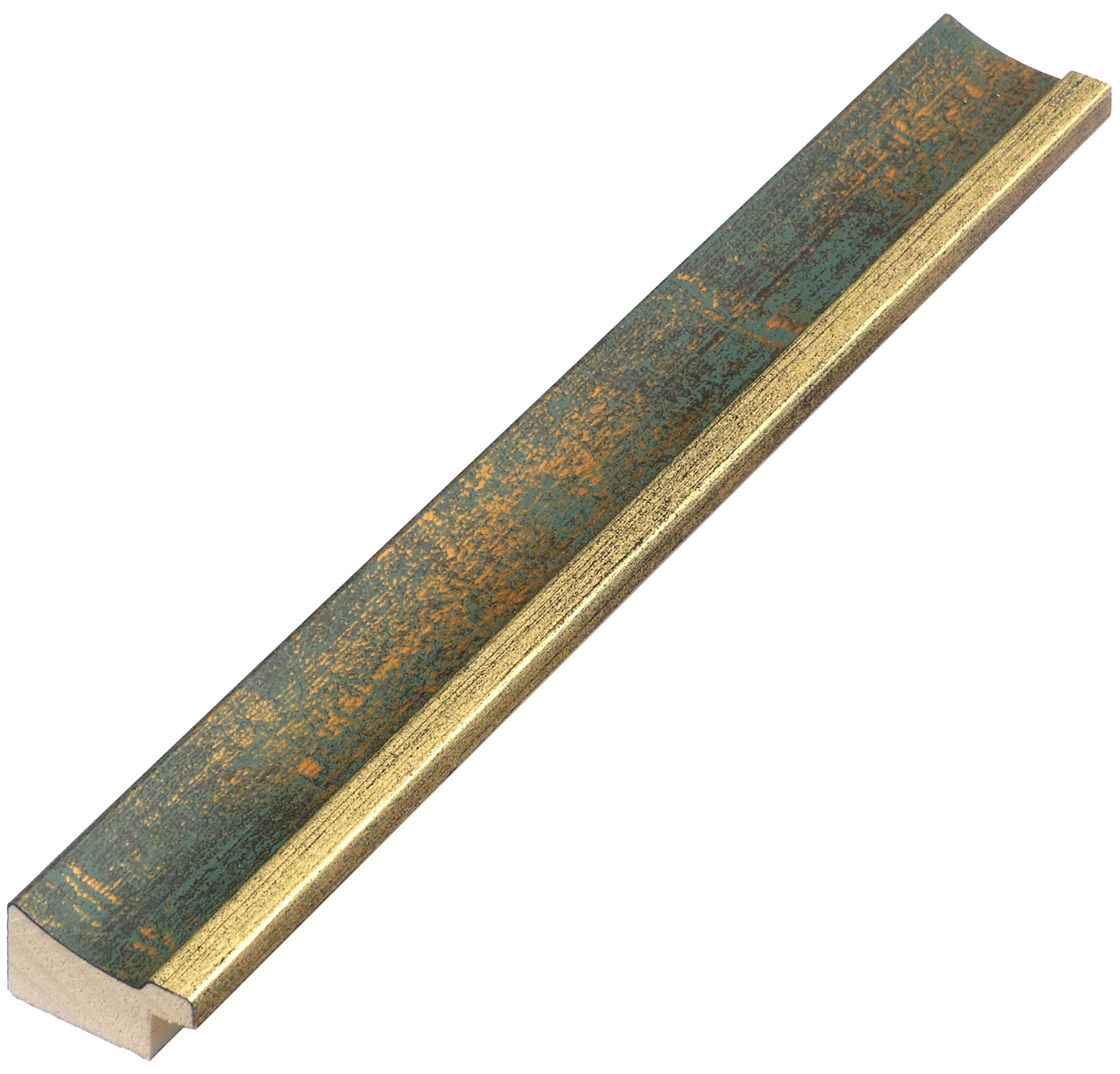 Moulding ayous - Width 25mm - Gold with green band