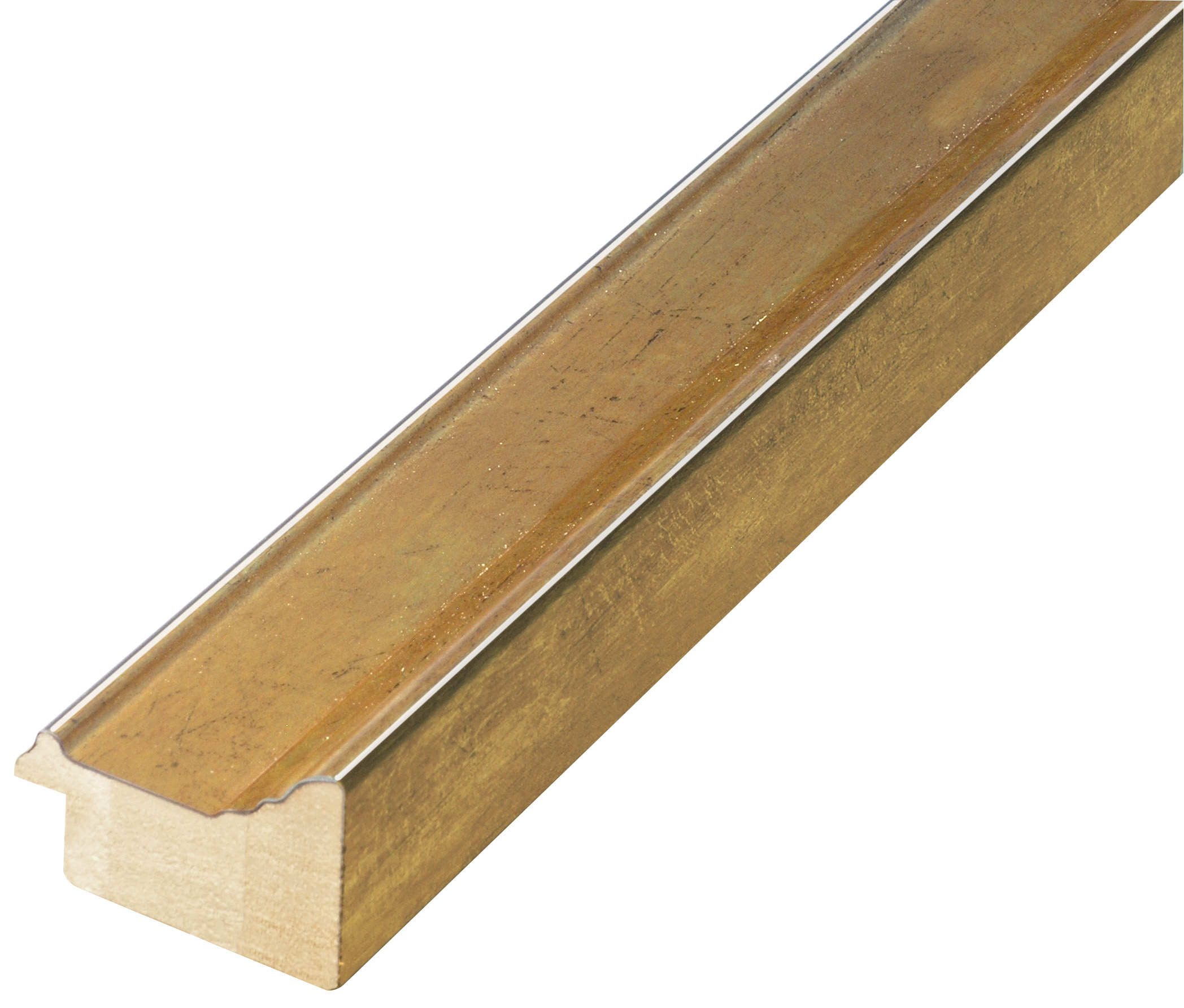 Moulding finger joint pine - width 42mm height 29 - gold