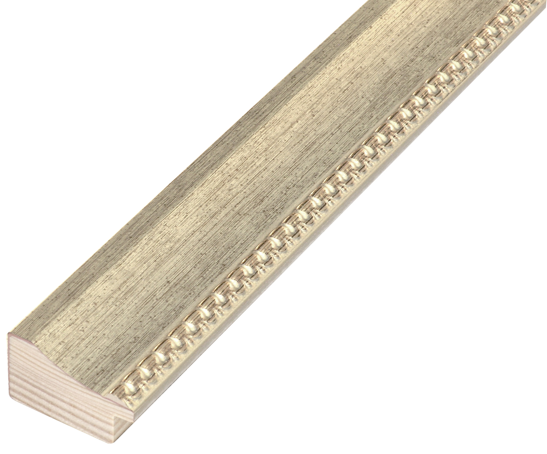 Moulding fir jointed, width 35mm height 20 - warm silver