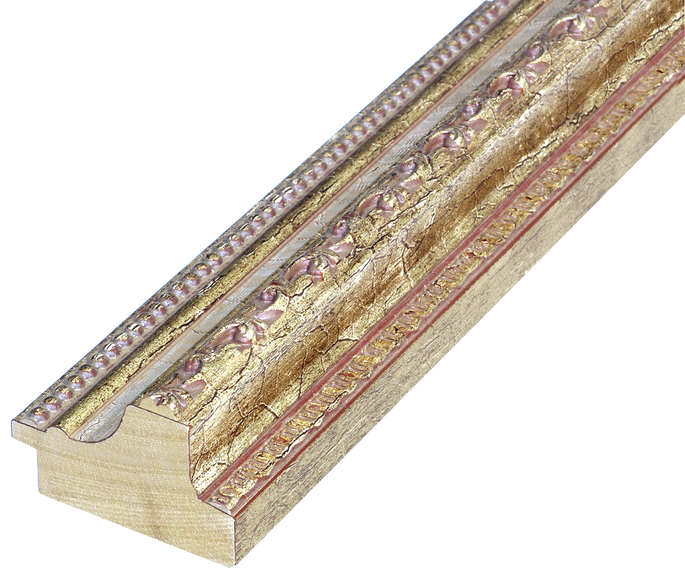 Moulding ayous - width 53mm height 35 - gold, silver band