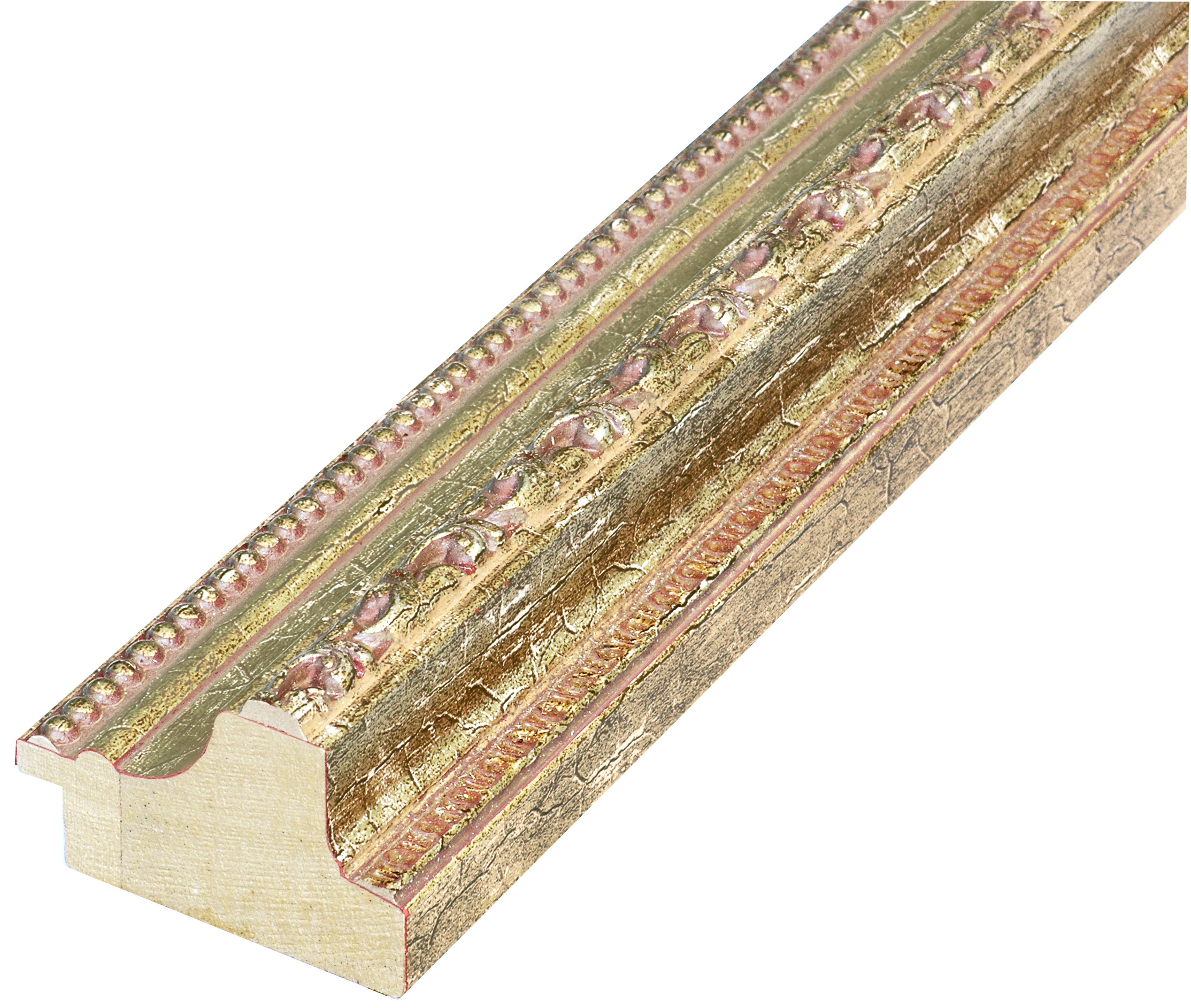 Moulding ayous - width 53mm height 35 - gold with decorations